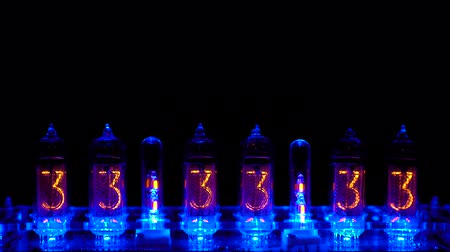 Nixie tube indicator of the numbers retro style