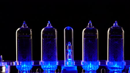 enstrüman : Nixie tube indicator of the numbers retro style