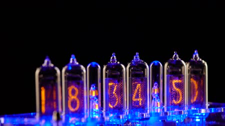 cronômetro : Nixie tube indicator of the numbers retro style