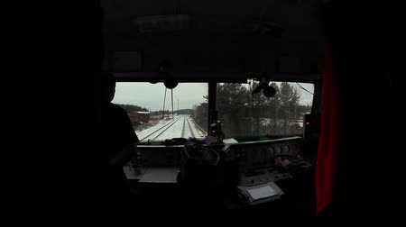 lokomotif : video captured from the cab of locomotive during the movement of trains