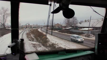 řidič : video captured from the cab of locomotive during the movement of trains