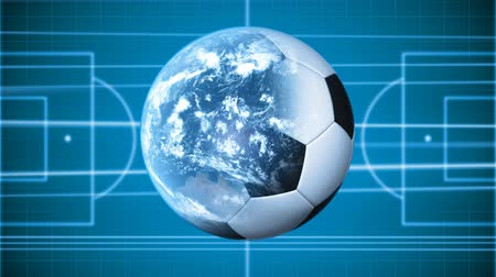 futebol : Soccer background. Soccer Field and football-Earth