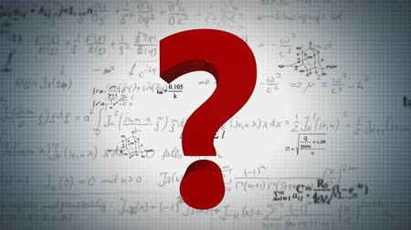 perguntando : Scientific background with different formulas and Question mark