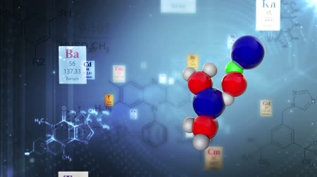 chemistry : Molecular Structure with elements of Periodic table and chemical formulas. Scientific background