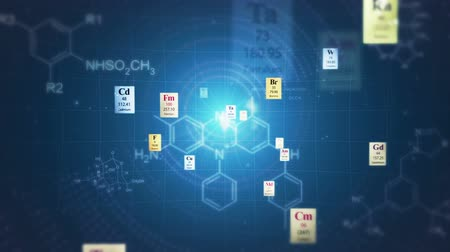elements : Scientific backgrounds. Elements of Periodic table and chemical formulas