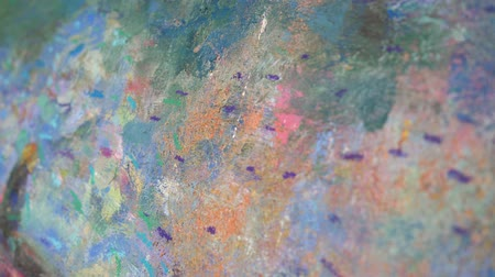 kleurplaten : Close-up picture painted in oil. Oil-painted abstraction. 4K