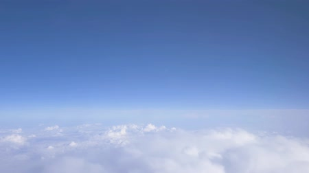 sztratoszféra : Cumulus FlightFlying above the clouds, fantastic panorama. 4K. Aerial view. Flying above the clouds. Stock mozgókép