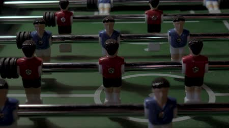 opponent : Table football, football. No people. Close up.