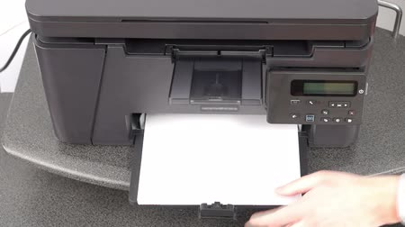 toner : Getting started with office printer Stock Footage