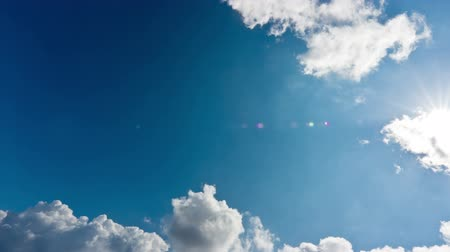 raios solares : Sun, Sky and Clouds Time Lapse Stock Footage