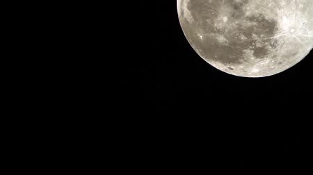 perigee : Super Moon Close Up 1 Stock Footage