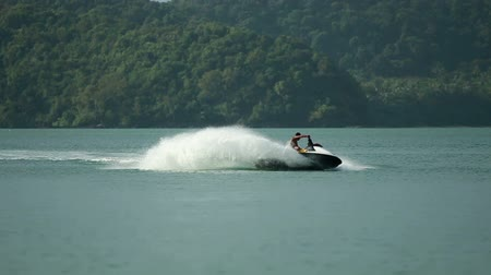 esqui : Jet Ski in Action 05 Stock Footage