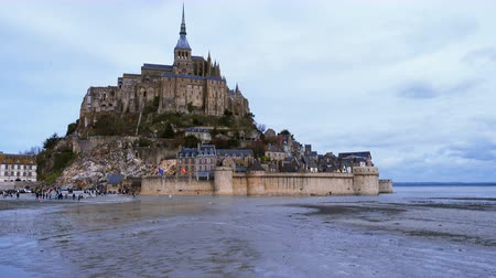 bretagne : view of Mont Saint Michel, Normandy, France