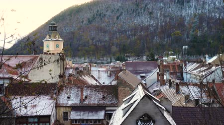Трансильвания : view of romanian medieval town Brasov from the viewpoint