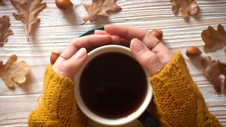aromático : woman hands with the cup of tea