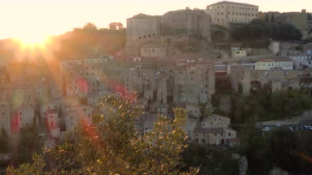 toscana : view at the old  famous tuff city Sorano