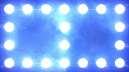 галоген : Floodlights Flashing Blue Looped Close up. Cold flashing Lights Wall close up with smoke and particles. Looped Animation. Stage lights. Close-up. VJ Floodlight Lights Flashing Wall. Shiny lights