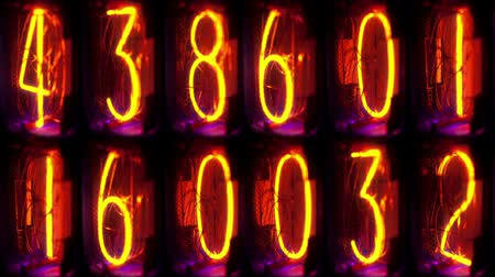 odometer : analog number light counter Stock Footage