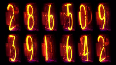 velocímetro : more numbers counting Stock Footage