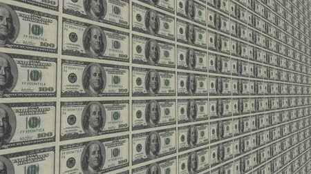 equilíbrio : sheet of money Stock Footage