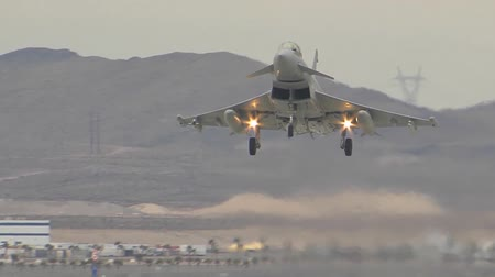 rhode : a royal air force typhoon fighter assigned to raf leuchars landing