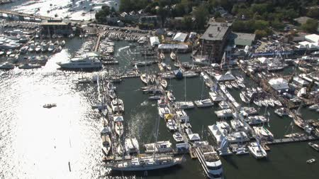 congested : aerial view of annapolis boat show