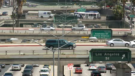 birdseye : above la traffic Stock Footage