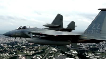 ar : f 15 eagle fighter jets close formation
