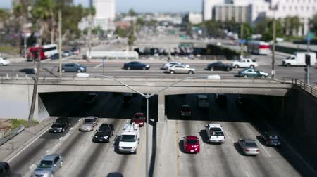 tilt shift : los angeles tilt shift overpass Stock Footage