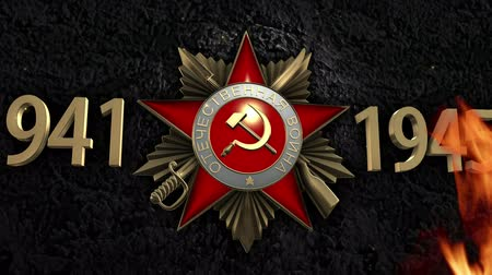 nape : Order of the Patriotic War Stock Footage