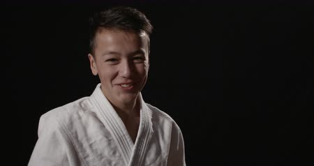sport dzieci : portrait of a young martial arts  practitioner