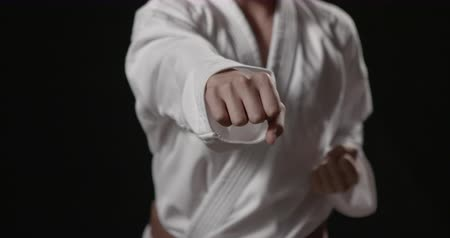 artes marciais : Karate fist punches with sound Vídeos