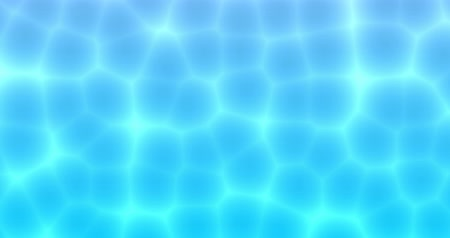 Cell bubble flowing seamless motion under blue ocean water background