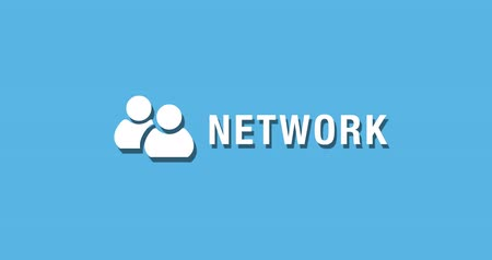 összekapcsol : Flat animated motion graphic drop down icon of network in two style
