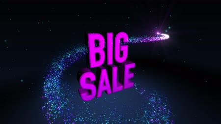wort : Magic Shinning Partikel Kreis Trail und 3D Banner Text Big Sale