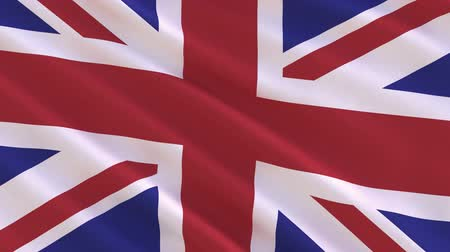 wielka brytania : Flag of the UK waving in the wind - seamless loop