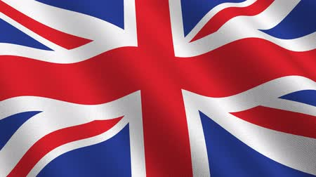 büyük britanya : Flag of the UK waving in the wind - seamless loop