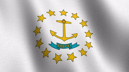 rhode : State flag of Rhode Island waving - seamless loop