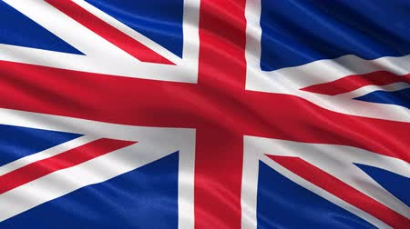 büyük britanya : Seamless UK Flag waving in the wind Stok Video