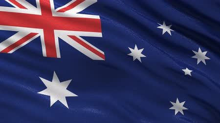bandeira : Seamless Australian flag waving in the wind