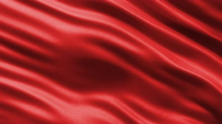 hedvábí : Loop ready seamless background showing a red silky material waving gently in the wind