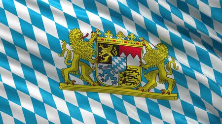 bajor : Seamless loop of the Bavarian state flag waving in the wind