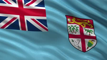 fijian : Flag of Fiji gently waving in the wind. Loop ready file with high quality fabric material Stock Footage