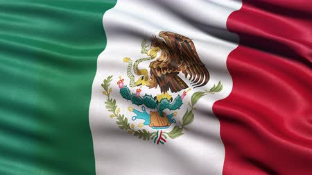 meksyk : Realistic Ultra-HD flag of Mexico waving in the wind. Seamless loop with highly detailed fabric texture. Loop ready in 4K resolution.