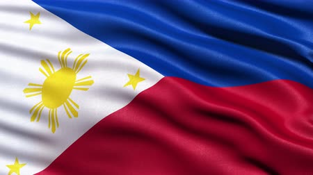 národní vlajka : Realistic Ultra-HD flag of Philippines waving in the wind. Seamless loop with highly detailed fabric texture. Loop ready in 4K resolution.