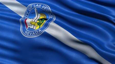 Seamless loop of Las Vegas city flag waving in the wind. Highly detailed fabric texture. Stock Footage