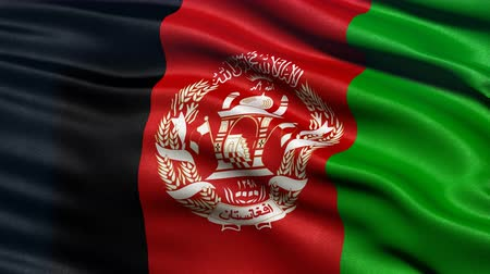Seamless loop of Afghanistan flag waving in the wind. Realistic loop with highly detailed fabric.