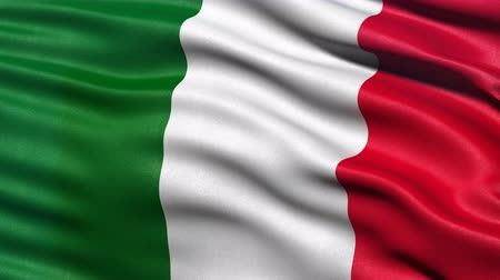 Seamless loop of Italy flag waving in the wind. Realistic loop with highly detailed fabric. Stock Footage