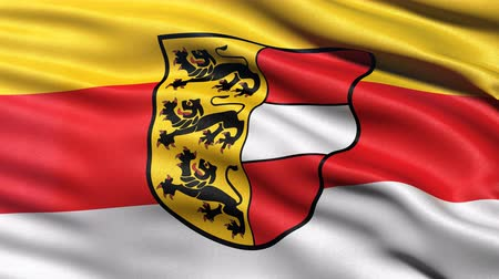 Seamless loop of Carinthia state flag in Austria waving in the wind. Realistic loop with highly detailed fabric.
