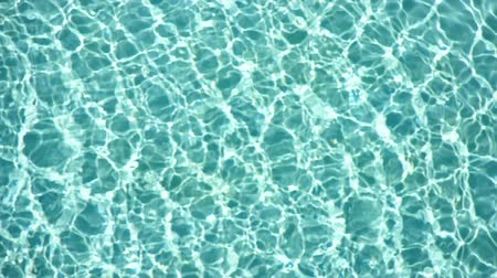 Shiny blue water in a swimming pool. (HD footage with sound)
